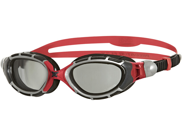 Zoggs Predator Flex Svømmebriller Polarized Reactor, grey/red/black